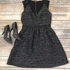 Cute faux leather detail H&M dress - Sz 8